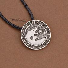 Viking Wolf Anhänger Halskette Gotisch Nordisch Für Herren Schmuck Geschenk Neu
