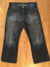 Men's 7 For All Mankind Relaxed Fit Button Fly Jeans Sz 33 Inseam 28