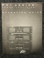 PEAVEY | PV Series | Power Amp | operating GUIDE | En