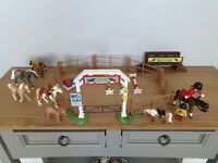 Playmobil 4185 Horse Show / Riding School With Lots Of Extra Horses