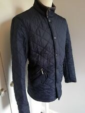 BARBOUR Men's Navy Powell Quilted Jacket Size M/L VGC Premium Quality