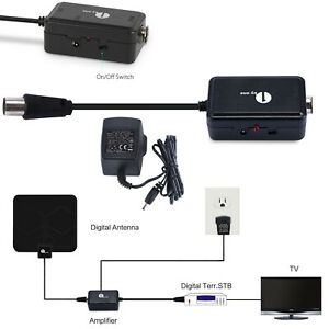 1byone Digital High Gain Low Noise Amplifier/Signal Booster HDTV for TV Antenna