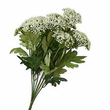 Factory Direct Craft White Artificial Queen Anne's Lace Bush