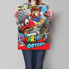 Super Mario Odyssey Poster Game Art 16.6 x 23.4 in (A2)