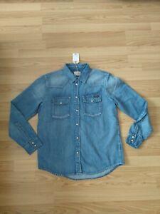 NEU Nudie Jeans,  Denim Hemd Shirt George Blue Tribe M