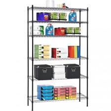 "6 Tier Wire Shelving Unit NSF Metal Shelf Rack 1500 LBS Capacity 16""x42""x72"""