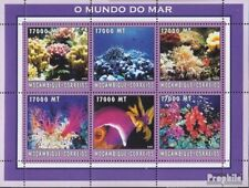 Mosambik 2608-2613 Velletje postfris MNH 2002 Wereld van Marine
