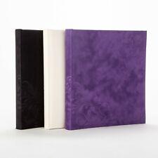 Henzo Fotoalbum Silhouette Samtalbum 30,5x28 cm 50 weiße Seiten zum Einkleben