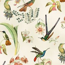 By 1/2 Yard ~ Elizabeth's Studio Hummingbirds in Style ~ Botanical Orchid Fabric
