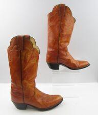 Ladies Justin Burnt Orange Leather Western Boots Size : 7 B