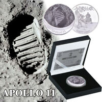 WR Silver Coin APOLLO 11 50th Anniversary Armstrong Human's First Step In Box