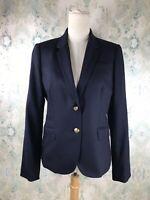 J.Crew Blue Classic Schoolboy Career Casual Blazer Jacket 10