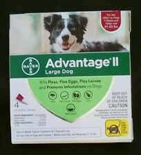 Advantage II Flea control- Dogs & puppies 21-55 lbs new & in box w/EPA#. 4 doses