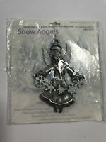 Snow Angels Faith Christmas Ornament Made in USA Cathedral Art
