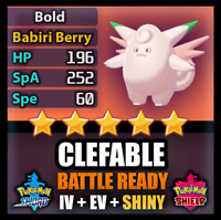 Pokemon Sword and Shield 6IV Clefable SHINY BATTLE READY Competitive FAST