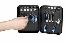 BLACK SECURITY STORAGE LOCKER CABINET 30 HOOKS SAFE KEY LOCKING LARGE BOX  NEW