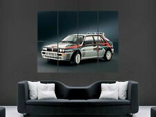 LANCIA  DELTA HF INTEGRALE RALLY CLASSIC CAR  HUGE LARGE WALL  POSTER PICTURE