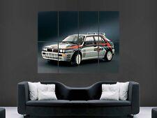 LANCIA Delta HF Integrale Rally Classic Auto enorme grande muro POSTER PICTURE