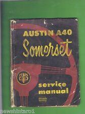 AUSTIN A40  SOMERSET  SERVICE &  REPAIR MANUAL