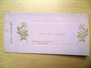 Vintage 1903/04 Christmas Greeting Card '-114 years old