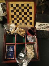 Boite de Jeux Bois-Dames,Echecs,Backgammon,Dominos