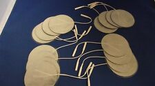 16 Replacement Electrode Pads for Massagers /Tens Units 3 inch Round White Cloth