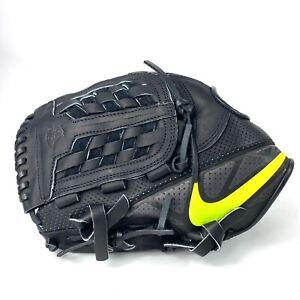 "Nike MVP Select 12"" Right Hand LHT Baseball Glove Black Lime Green BF1715-007"