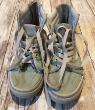 Vans Authentic Mint Green High Top Shoes Kids Boy Girl Size 13.5