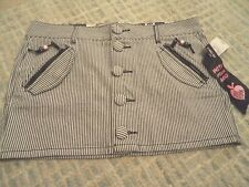 ZOO YORK Striped Mini jeans skirt Size 28