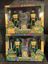 NECA TMNT Ninja Turtles Cartoon Set Of 4 7 inch Action Figure Target Ex