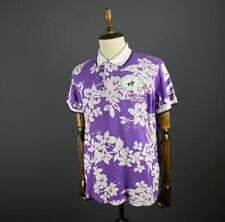 Men La Martina Purple Floral Short Sleeve Polo Shirt Size 2XL / XXL