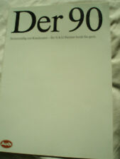 Audi 90 range brochure Jul 1987 German text