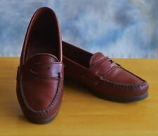 DEXTER Sz 6 M Brown Penny Loafers Leather Uppers Slip On Comfort Sole Flats