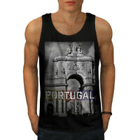 Wellcoda Portugal City Mens Tank Top, Landmark Active Sports Shirt