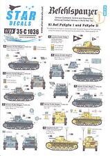 Star Decals 1/35 BEFEHLSPANZER Panzer I and Panzer II Tanks