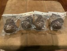 """2 Pair (4) Kirsch Wood Trends Classics Finials LACEY 2"""" Coffee 46804841"""