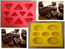 SuperHero Batman & Superman Silicone Cake Crayon Chocolate Ice Mold Mould Comic