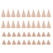 40 x Kegel Form Ringständer für Heimwerker Decoupage Malen Färben Dekorieren