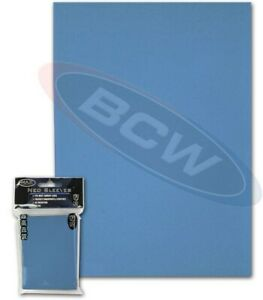 Pack 50 Max Protection Standard Game Card Deck Guards Flat Sky Blue MTG sleeves