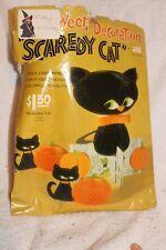 Vintage Cardboard Halloween Black Cats set 3 cats