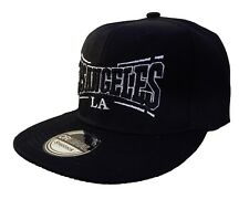BASECAP Baseball SNAP BACK CAP Schwarz Black LOS ANGELES Fittet Damen Herren LA7