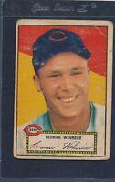 1952 Topps Red #080 Herman Wehmeier Reds Poor 52T80-33116-3