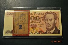 PACZKA FULL BUNDLE 100 PCS POLAND 100 ZLOTYCH NE 1986 UNC RARE SERIES