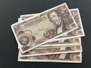 AUSTRIA 20 Schilling (1967) Set of 10 banknotes