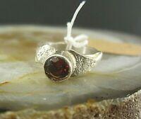 sinnlicher ring silber 925 mit granat direkt aus der silberschmiede unikat 16mm