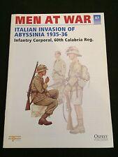 OSPREY MEN AT WAR #87 Italian Invasion of Abyssinia 1935-36