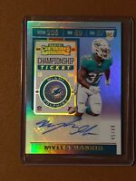 2019 Contenders Myles Gaskin Championship Ticket RC Auto Autograph #45/49