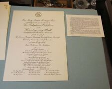 1953 Damon Runyan Memorial Fund for Cancer Research Thanksgiving Ball Invitation