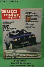 AMS Auto Motor Sport 12/82 Scirocco Allrad BMW 528i Ford Capri turbo