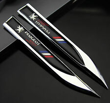 2pcs Auto Car Metal Knife Badge Emblem Decal Sticker For Black Racing Sports new